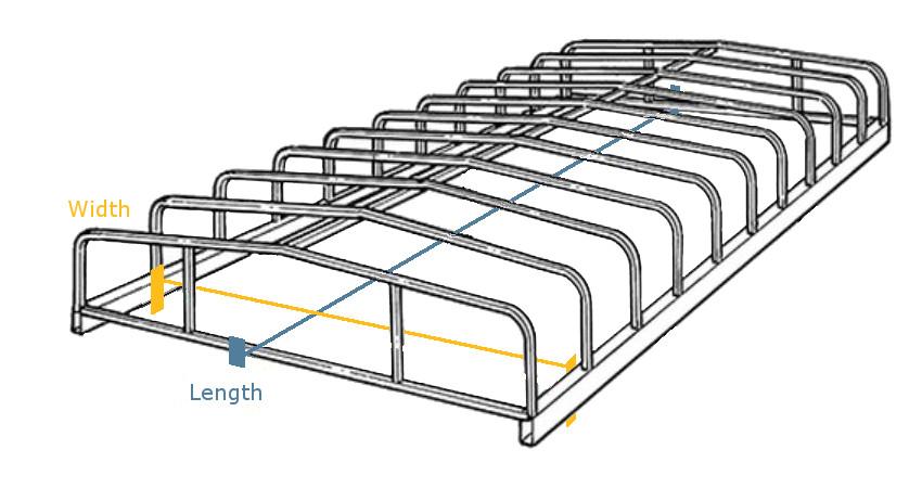 Floe Boat Lift 10\' Wide Canopy Frame   Wakeboss™