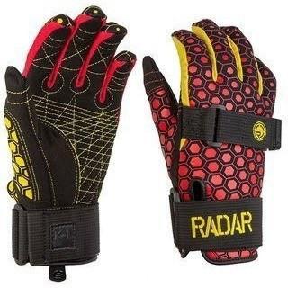 Radar Total Radar Awesomeness Water Ski Gloves - Boy's Size (L) - Yellow/Red