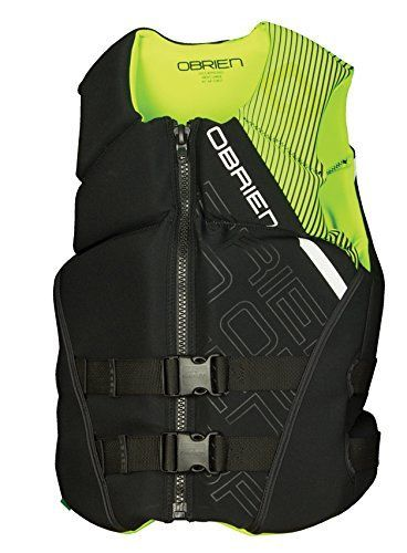 O'Brien Mens Flex Green Life Jacket Medium