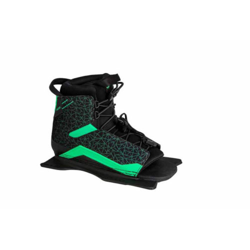 Radar Women's Water Ski Lyric LTD Boot - Black / Caribbean Green - Front Feather Frame - STD (2019)