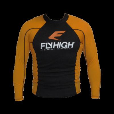 Barefoot International FlyHigh Heater Shirt Orange and Black- Extra Large