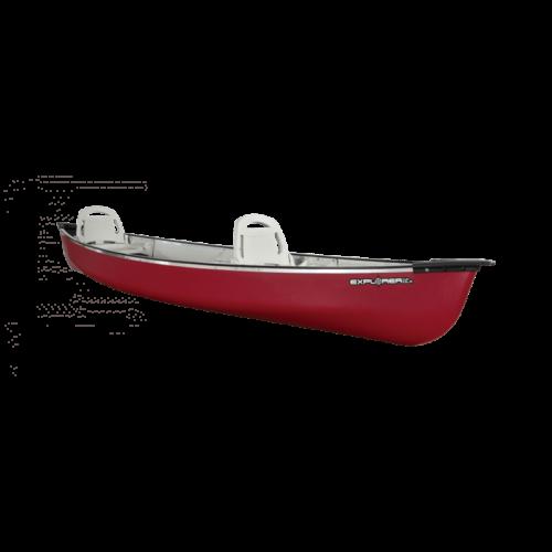 Canoe Explorer 14.6 Dlx /Burgundy Red/Tin Grey