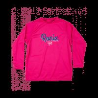 Ronix Girl's - UV Shade / Wick Dry Hoodie - Long Sleeve - Pink / White (2020)
