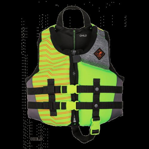 Ronix Vision Boy's - CGA Life Vest - Lime Heather - Child (30-50lbs) (2020)