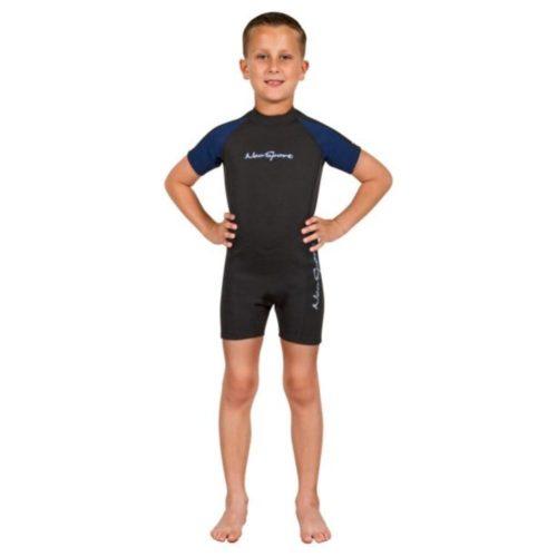 Neosport 2MM Kid's Shorty Black/Blue (2020)