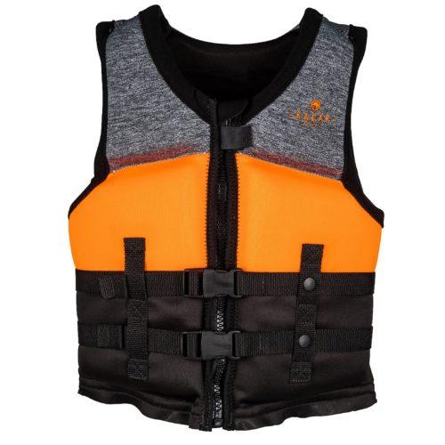 Radar TRA Boy's - CGA Life Vest - Heather Grey/Orange/Blk - Youth (2020)
